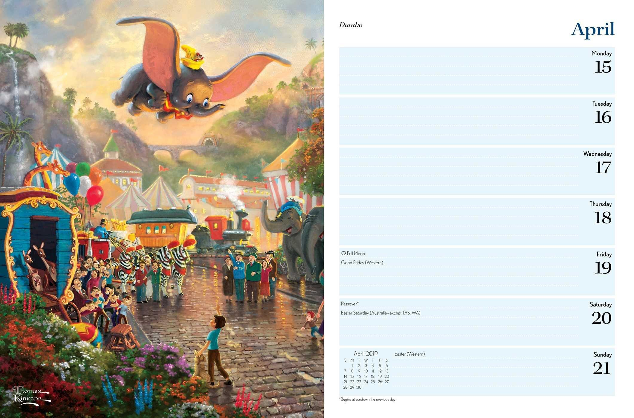 Disney Dreams Collection 2019 Engagement Calendar - Disneyland.shopping Calendar 2019 Thomas Kinkade