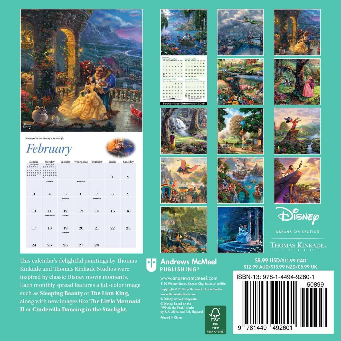 Disney Dreams Collection 2019 Mini Wall Calendar - Disneyland.shopping Calendar 2019 Disney