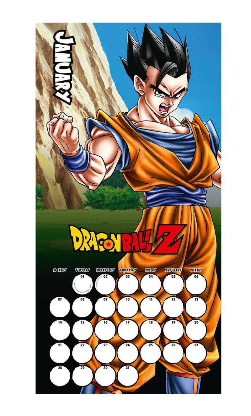 Dragon Ball Z 2019 Calendar   Playstation Gear Dragon Ball Z Calendar 2019