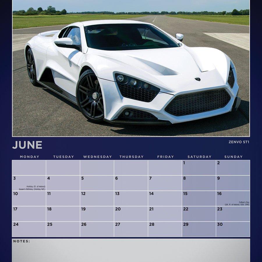 Dream Cars Calendar - 2019 Square Wall | Carousel Calendars Calendar 2019 Cars