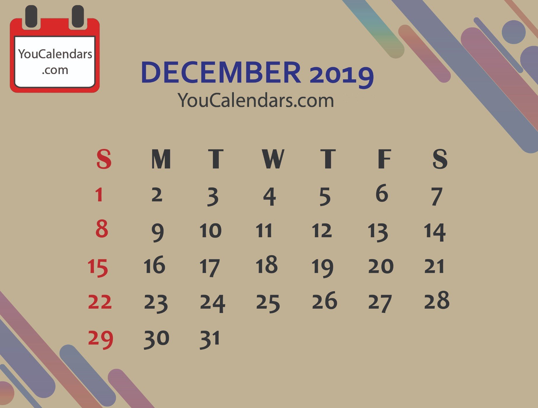 ✅Free December 2019 Calendar Printable Template - You Calendars 6 Nations 2019 Calendar Download