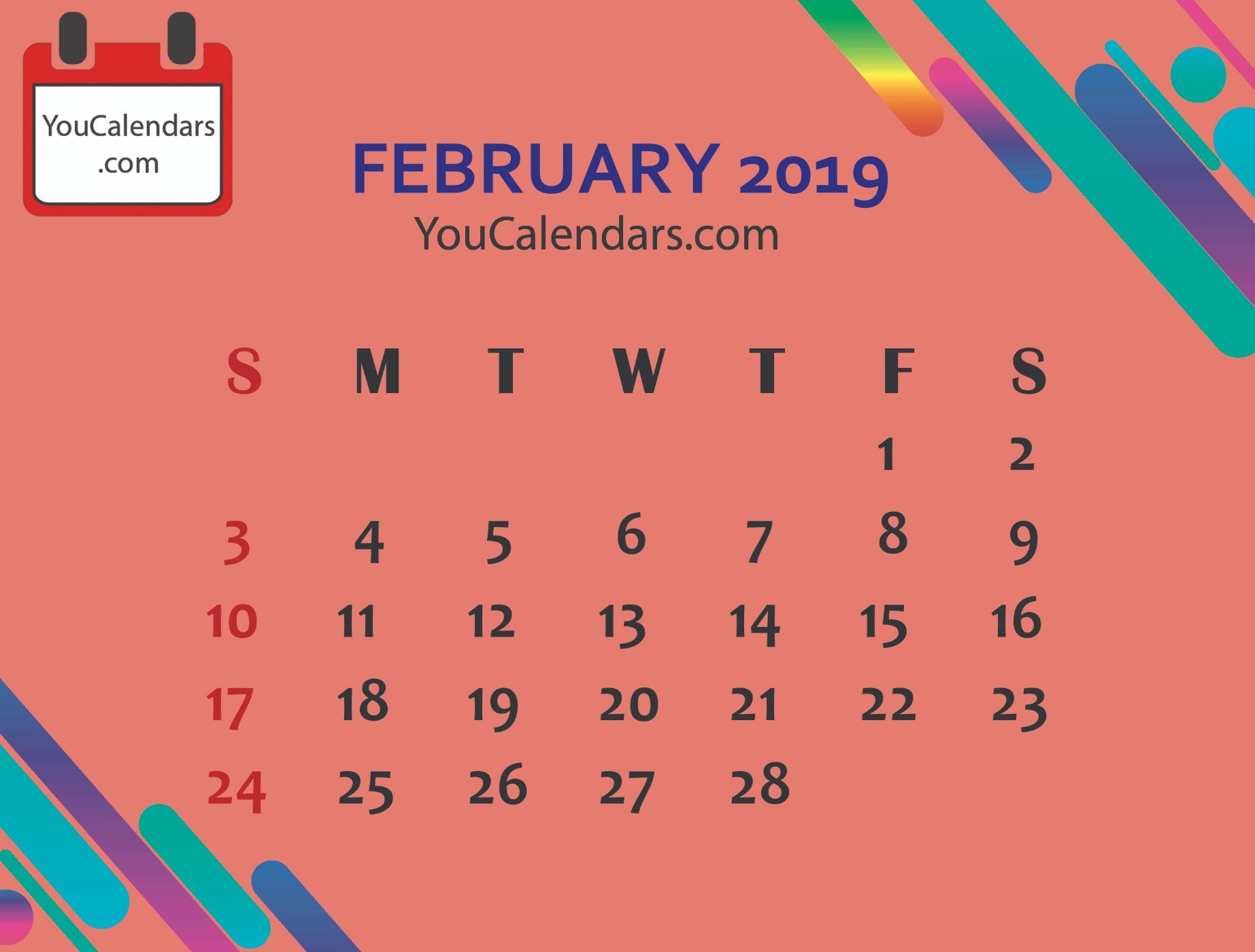 ✅Free February 2020 Calendar Printable Template - You Calendars M&m Calendar 2019
