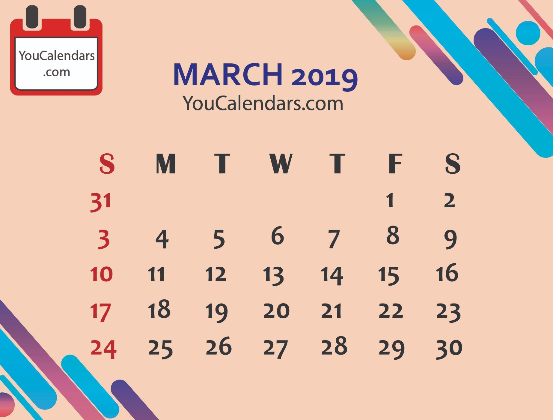 ✅Free March 2020 Calendar Printable Template - You Calendars March 8 2019 Calendar