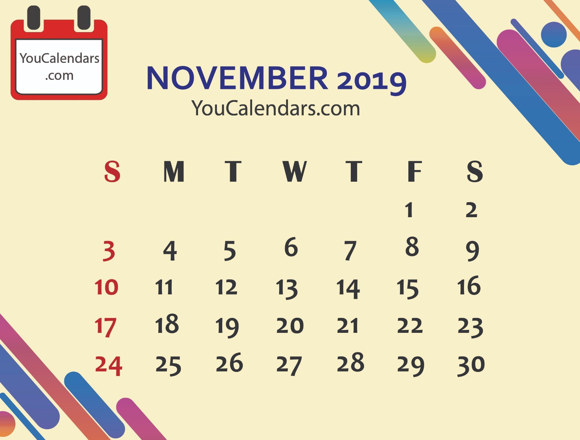 ✅Free November 2019 Calendar Printable Template - You Calendars 6 Nations 2019 Calendar Download