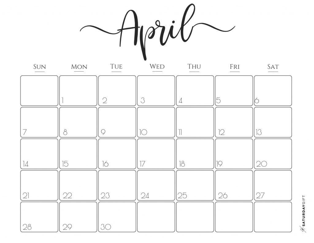 Elegant 2019 Calendar {Free Printables} | Saturdaygift Calendar 2019 Pretty