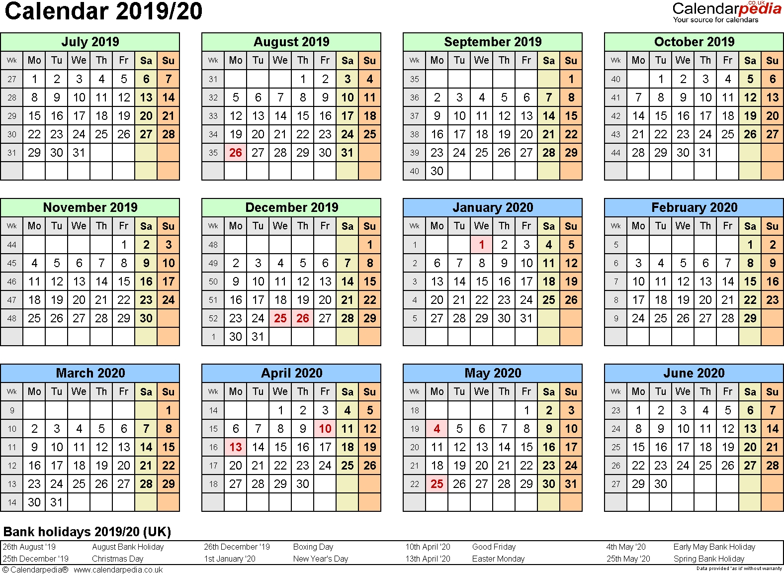 Extraordinary Calendar 2019 And 2020 Nz • Printable Blank Calendar Calendar 2019 Nz
