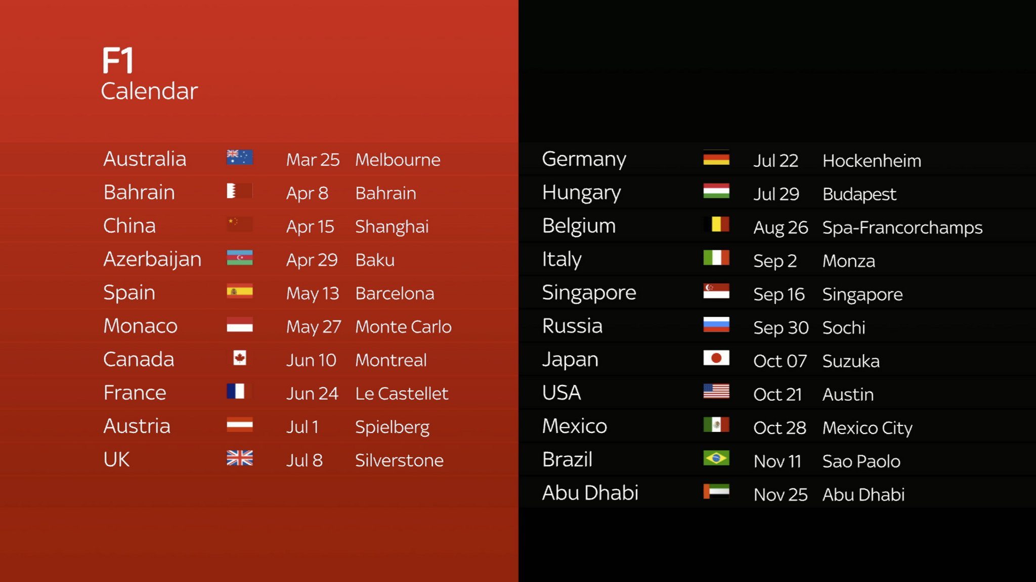 F1 2018: How To Add The 2018 Grand Prix Schedule To Your Smartphone Formula 1 Calendar 2019 Ical