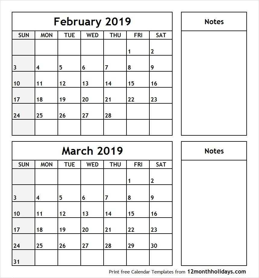 Feb And March 2019 Calendar - Icard.cmi-C D&d Calendar 2019