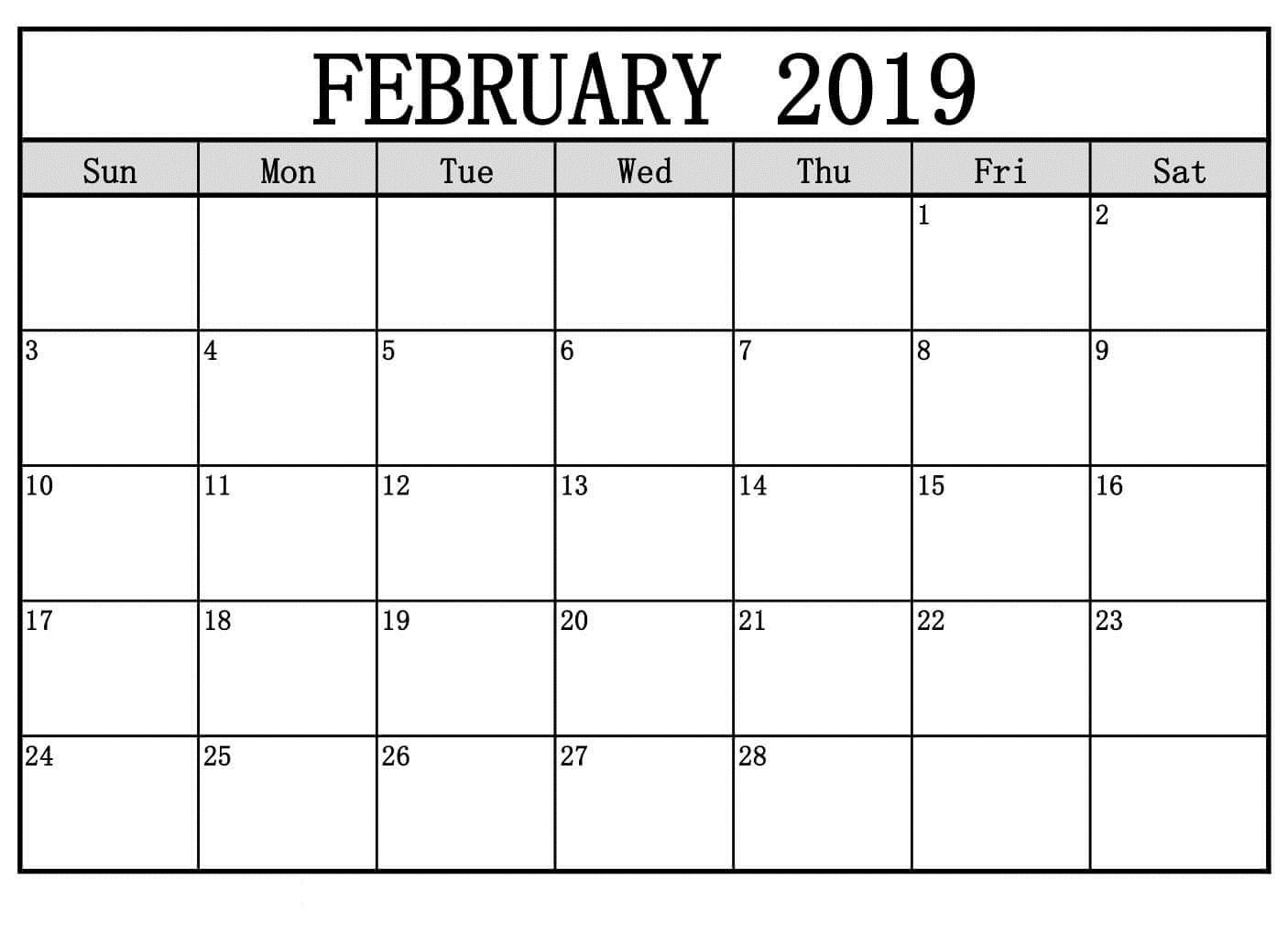 February Calendar 2019 To Do List | February Calendar 2019 Manage Calendar 2019 List