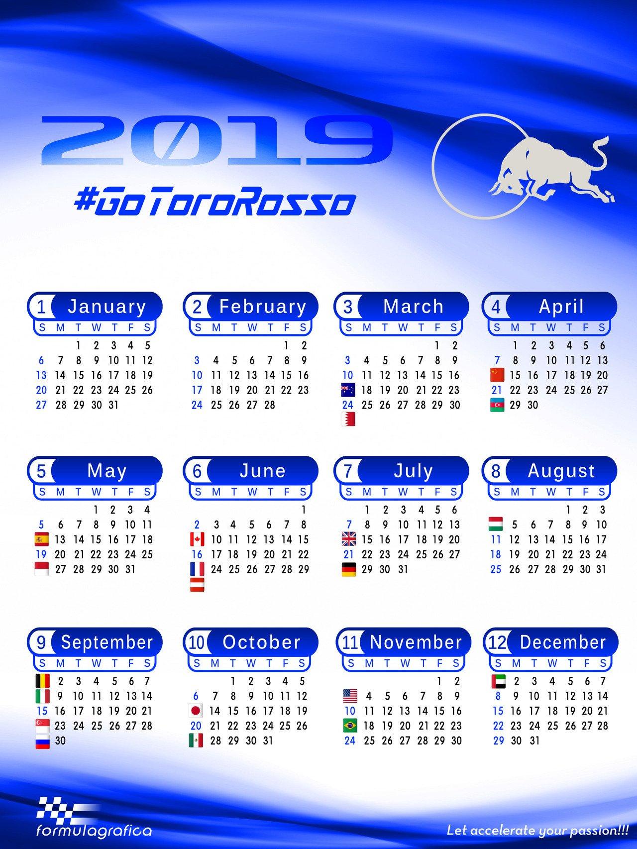 Formulagrafica — Calendar - 2019 Formula 1 Season - Scuderia Toro Formula 1 Calendar 2019 Tickets