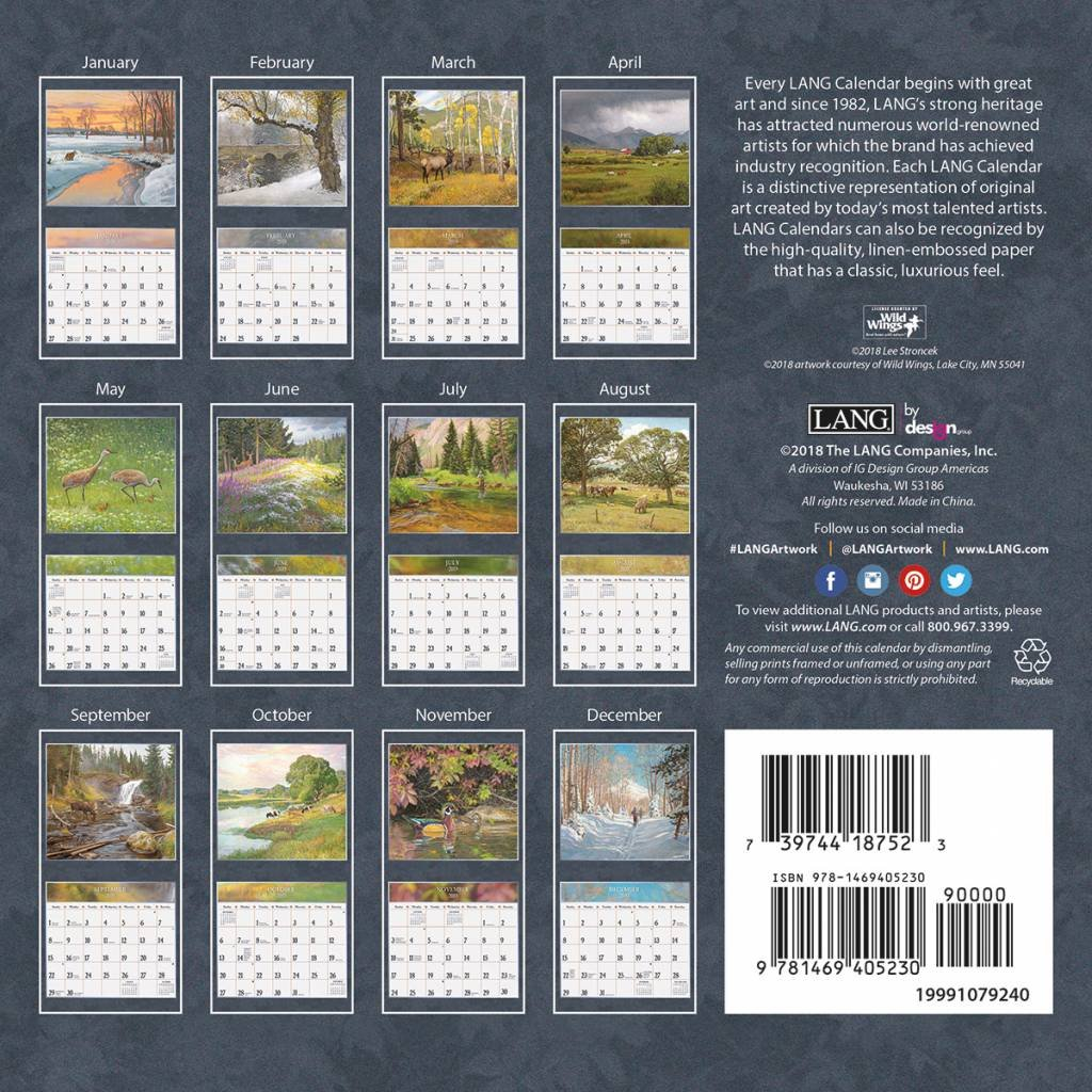 Four Seasons 2019 Mini Calendar | The Lang Store 4 Seasons Calendar 2019