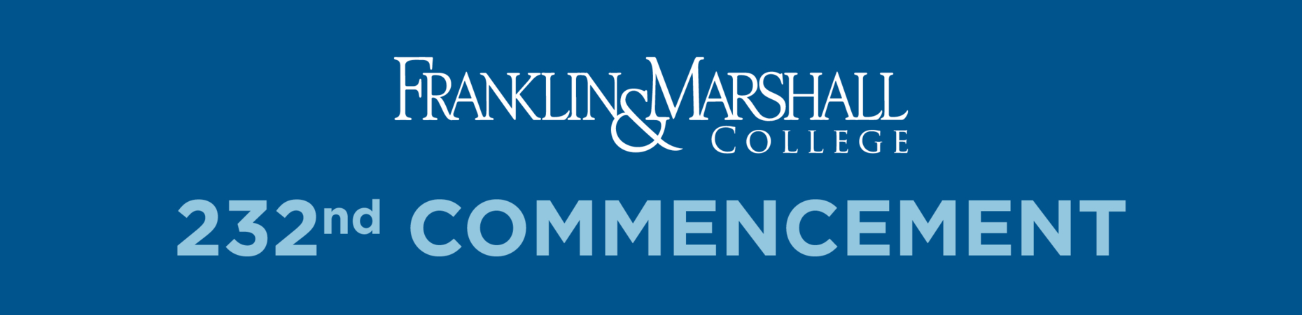 Franklin & Marshall - Commencement 2019 F&m Academic Calendar 2019