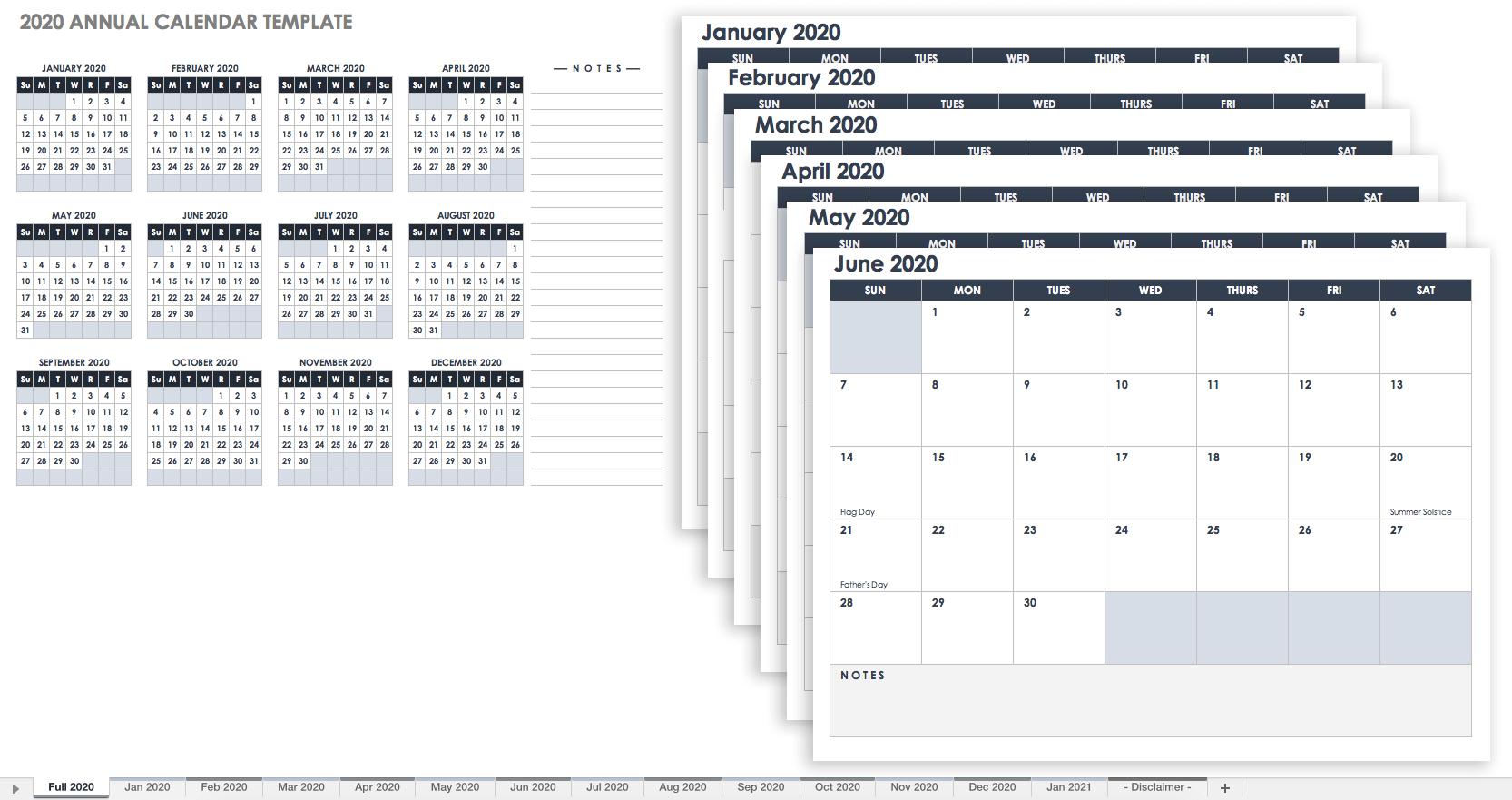 Free Blank Calendar Templates - Smartsheet 9/80 Calendar 2019