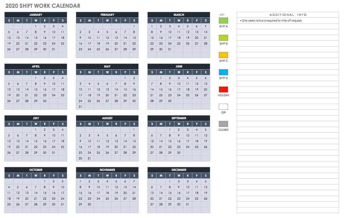 Free Blank Calendar Templates - Smartsheet Calendar 2019 Entire Year