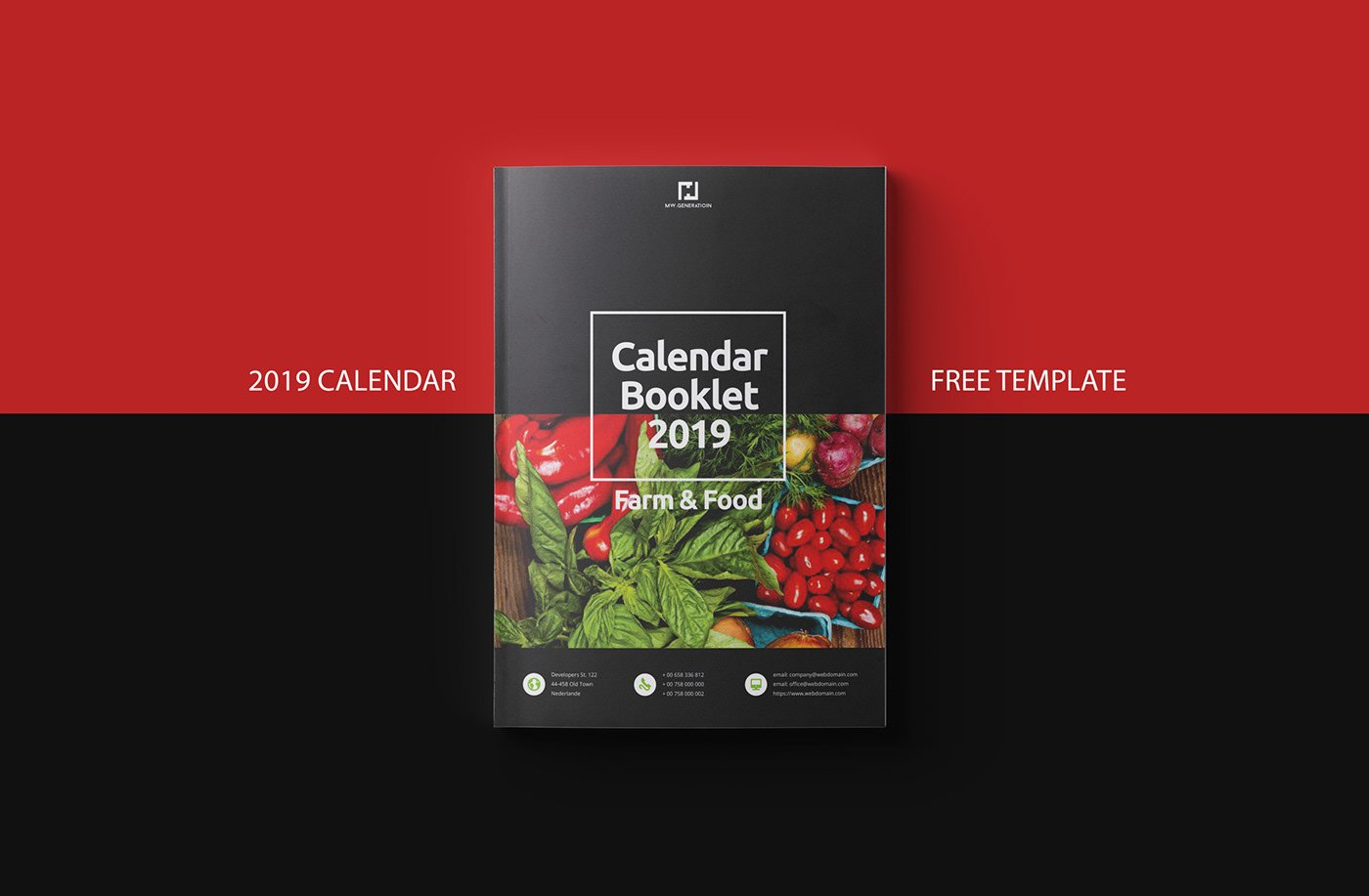 Free Calendar 2019 Indesign Template On Behance Calendar 2019 Indesign