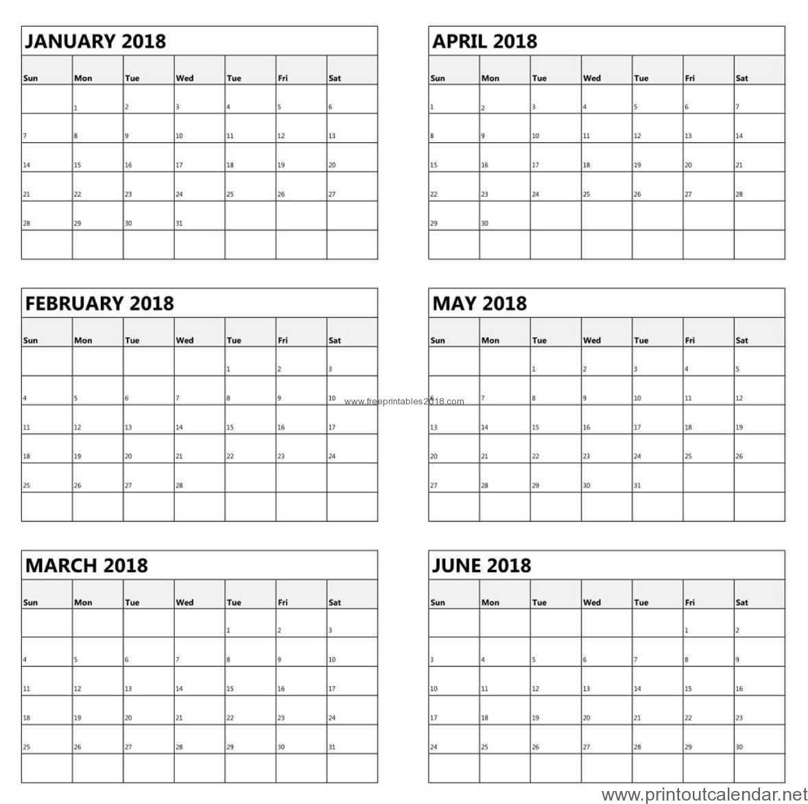 Free Printable 6 Month Calendar 2019   Free Printables 2019 6 Month Calendar 2019
