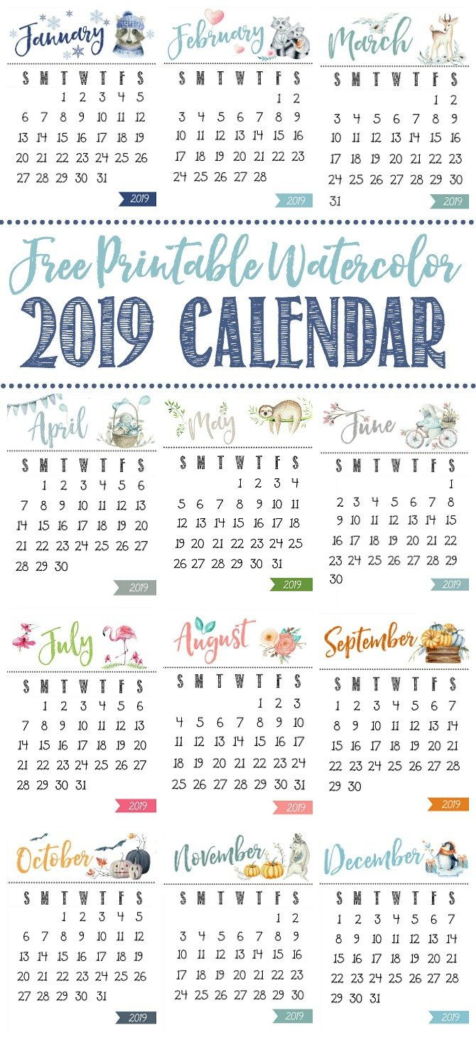 Free Printable Calendar - Clean And Scentsible Calendar 2019 Pretty