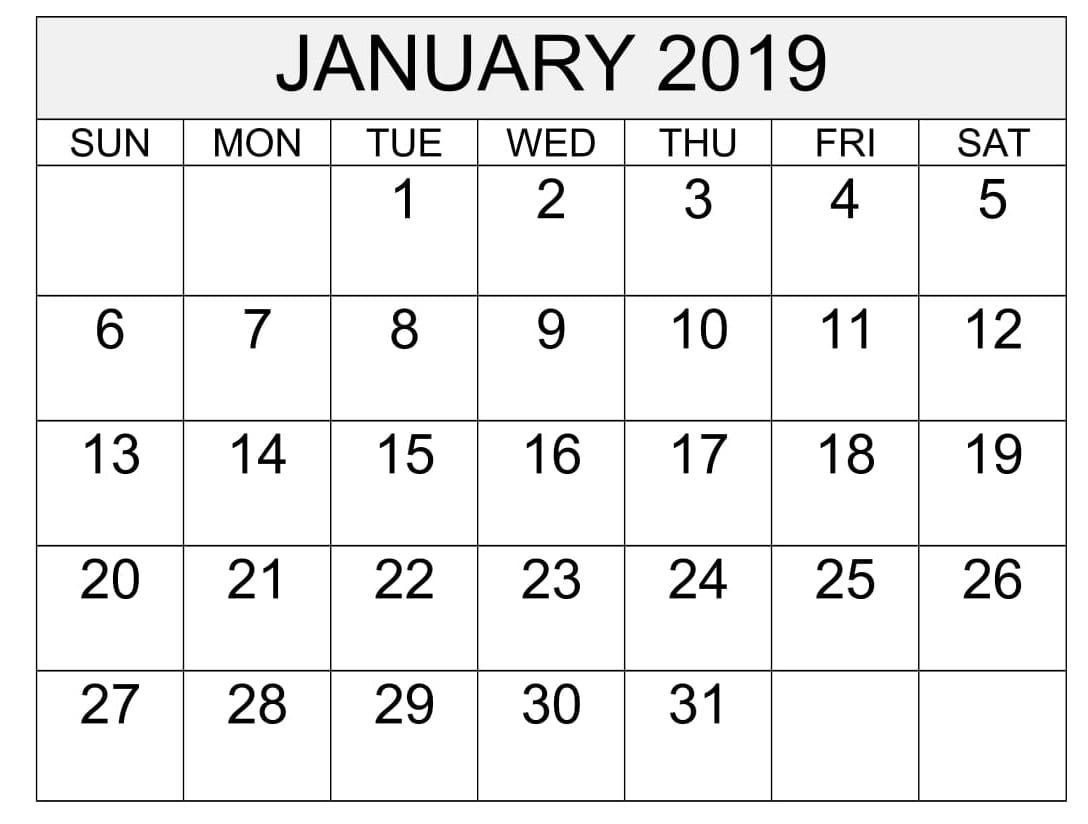 Free Printable Calendar & Template Calendar 2019 Martin Luther King