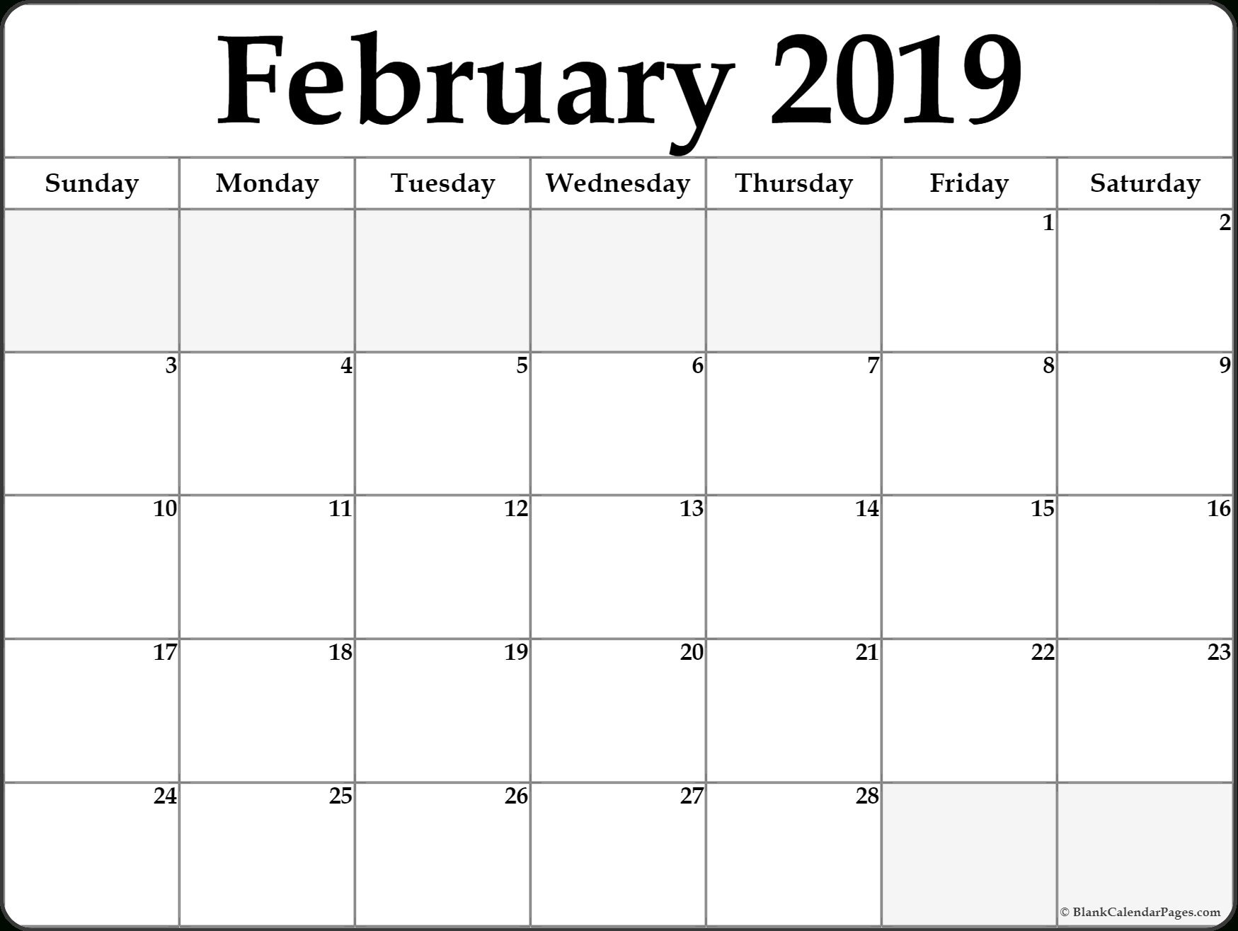 Free Printable Calendar, Templates And Holidays Print-A-Calendar 2019