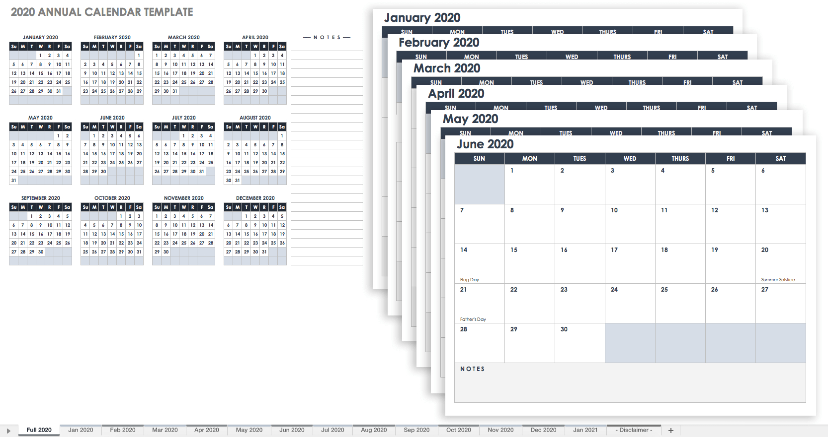 Free, Printable Excel Calendar Templates For 2019 & On | Smartsheet 5 Column Calendar 2019