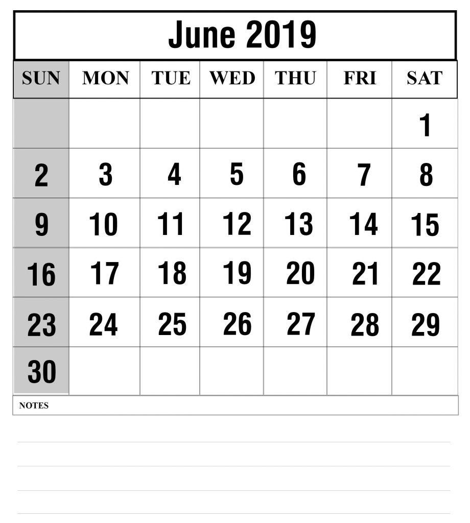 Free Printable June 2019 Calendar Template - Free Printable Calendar June 2 2019 Calendar