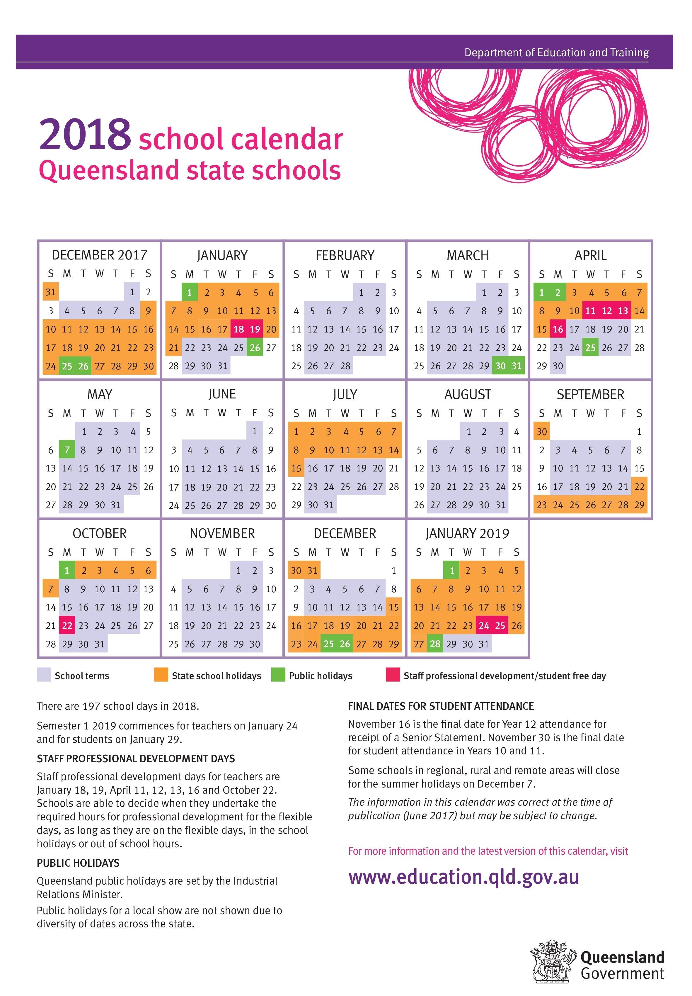 Free Yearly Calendar 2019 Singapore. School Holidays 2019 Nz. School 2019 Calendar Queensland State Schools