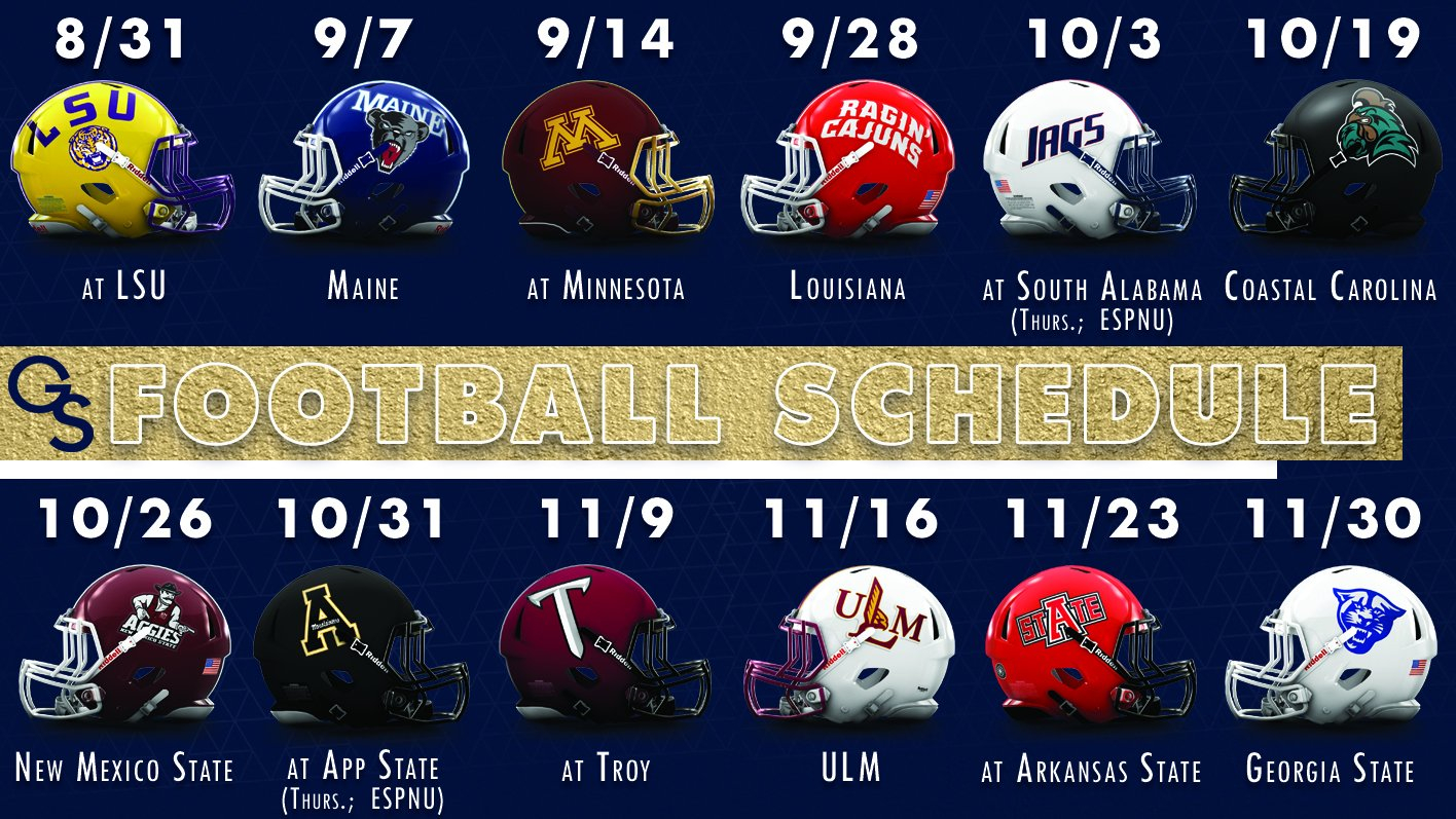 Georgia Southern Football Schedule Released - Georgia Southern Calendar 2019 Gsu