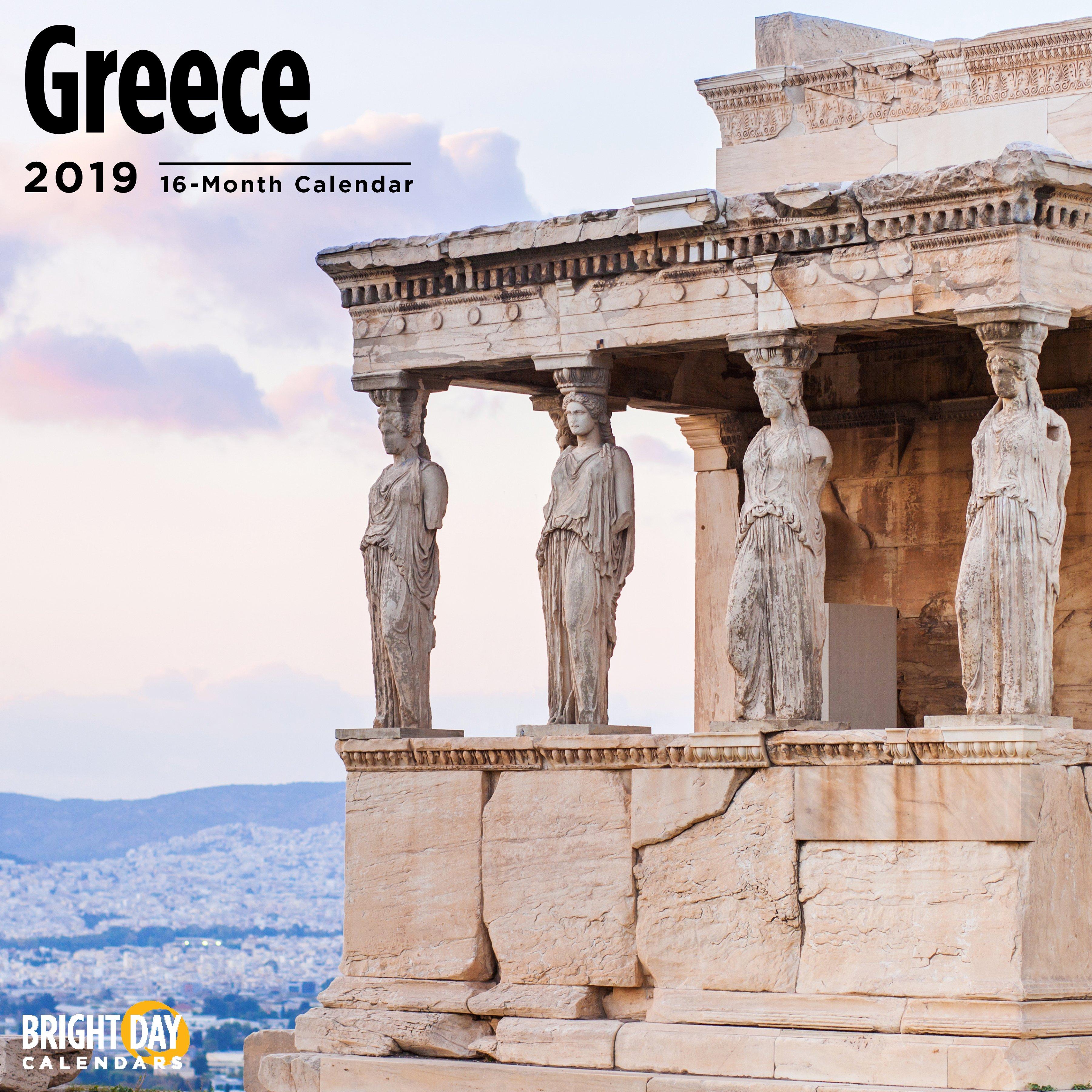 Greece 2019 Wall Calendar - Walmart Calendar 2019 Greece