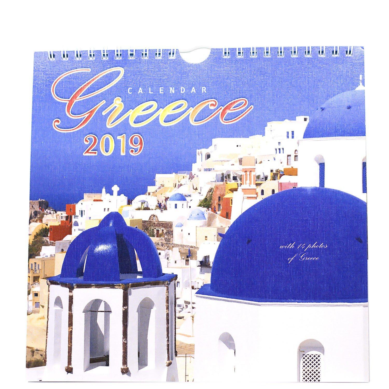 Greece Calendar 2019 - Thessgift Calendar 2019 Greece