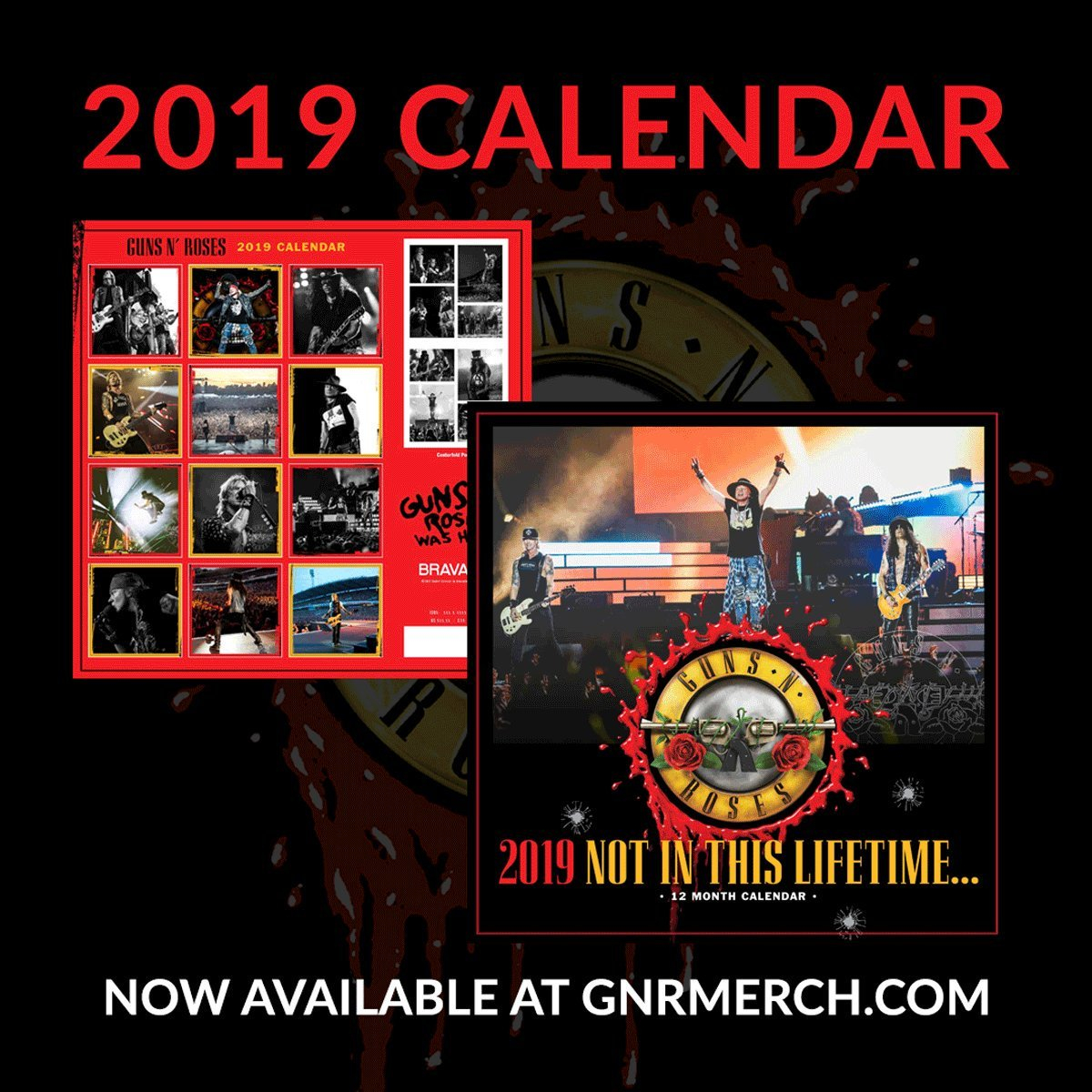 "Guns N' Roses On Twitter: ""the Official Guns N' Roses 2019 Calendar Guns N Roses Calendar 2019"