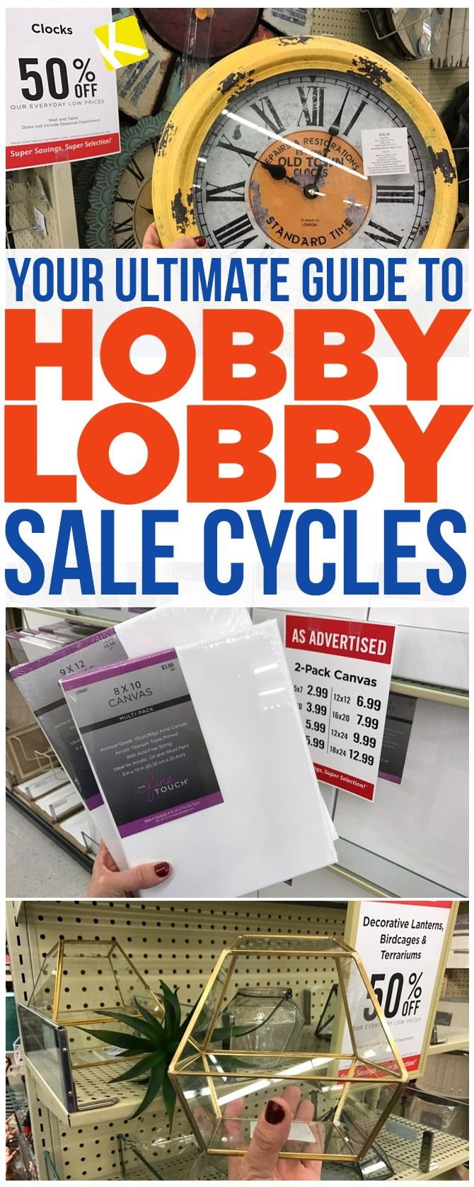 How To Know When Every Item At Hobby Lobby Goes On Sale | Store Calendar 2019 Hobby Lobby