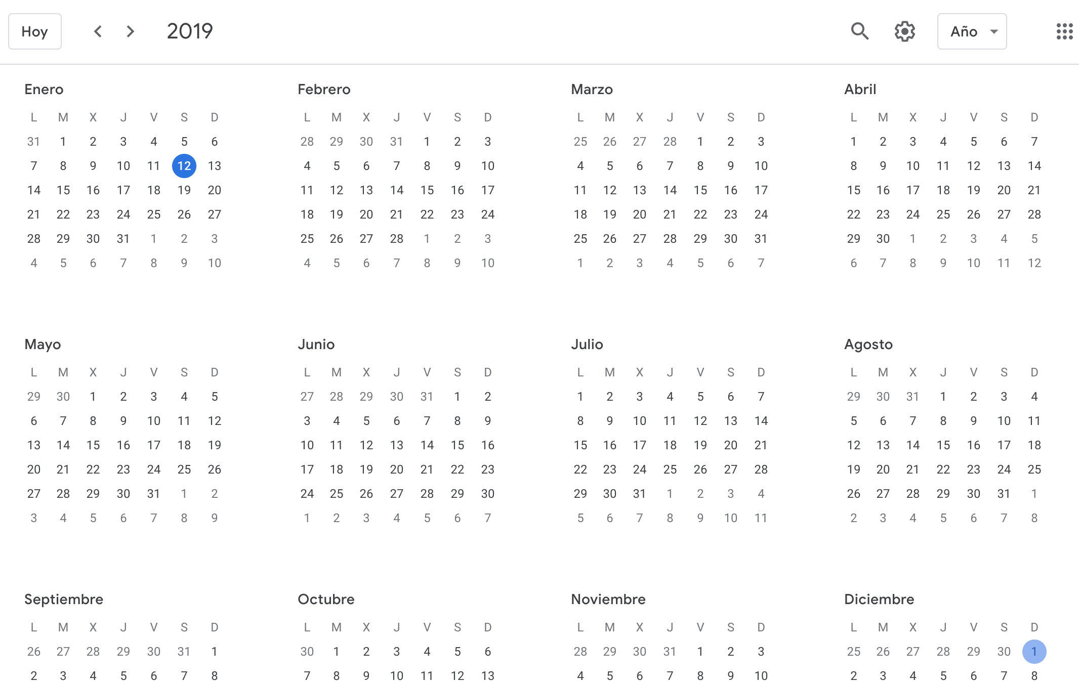 Howto See Google Calendar Events In Yearly View – Ivanmosquera Calendar 2019 Year View
