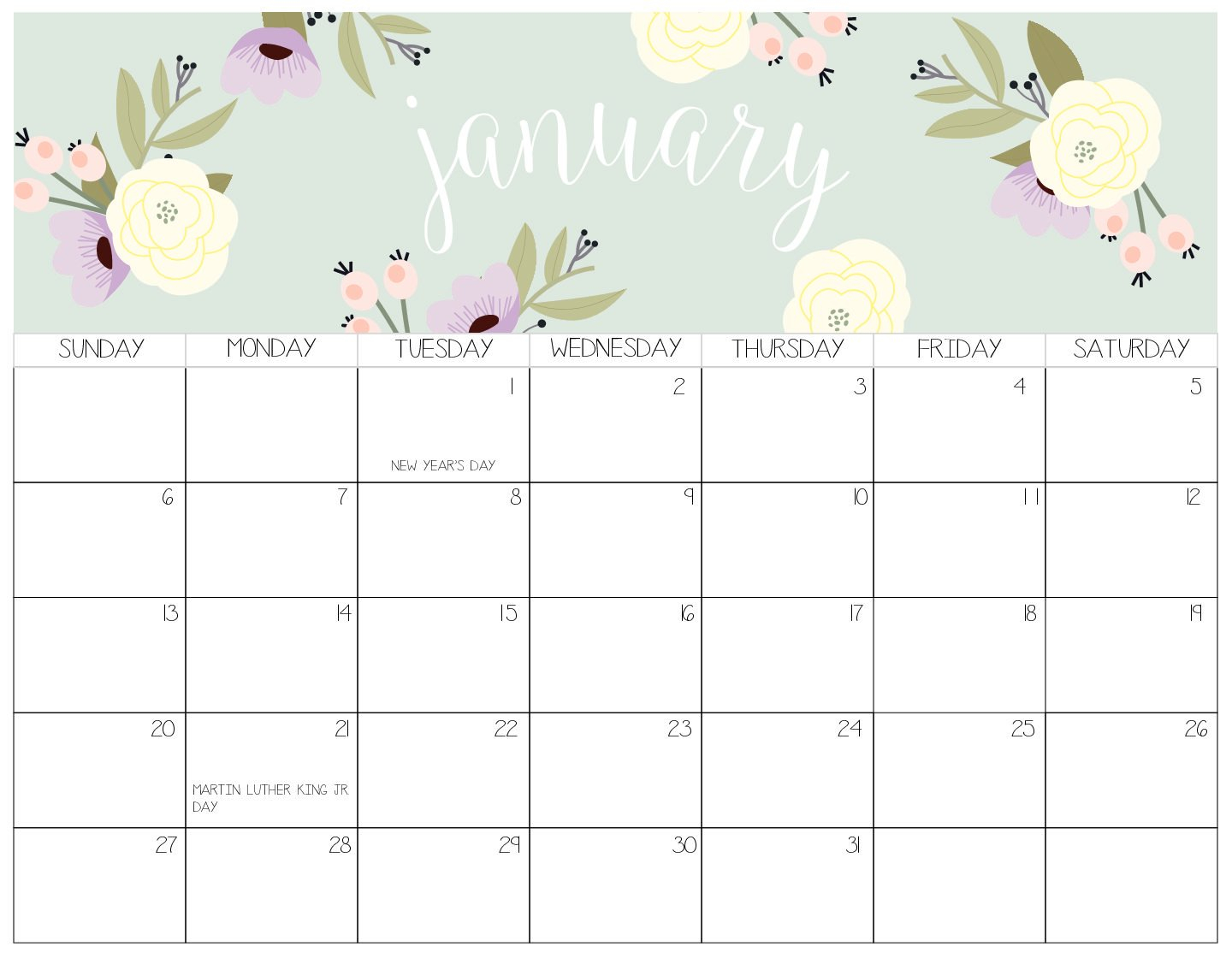 Index Of /wp Content/uploads/2018/07 Calendar 2019 Blog