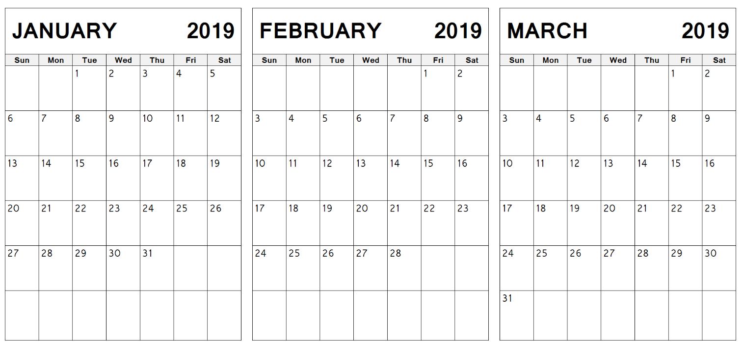 Index Of /wp-Content/uploads/2019/01 Calendar 2019 Jan Feb Mar