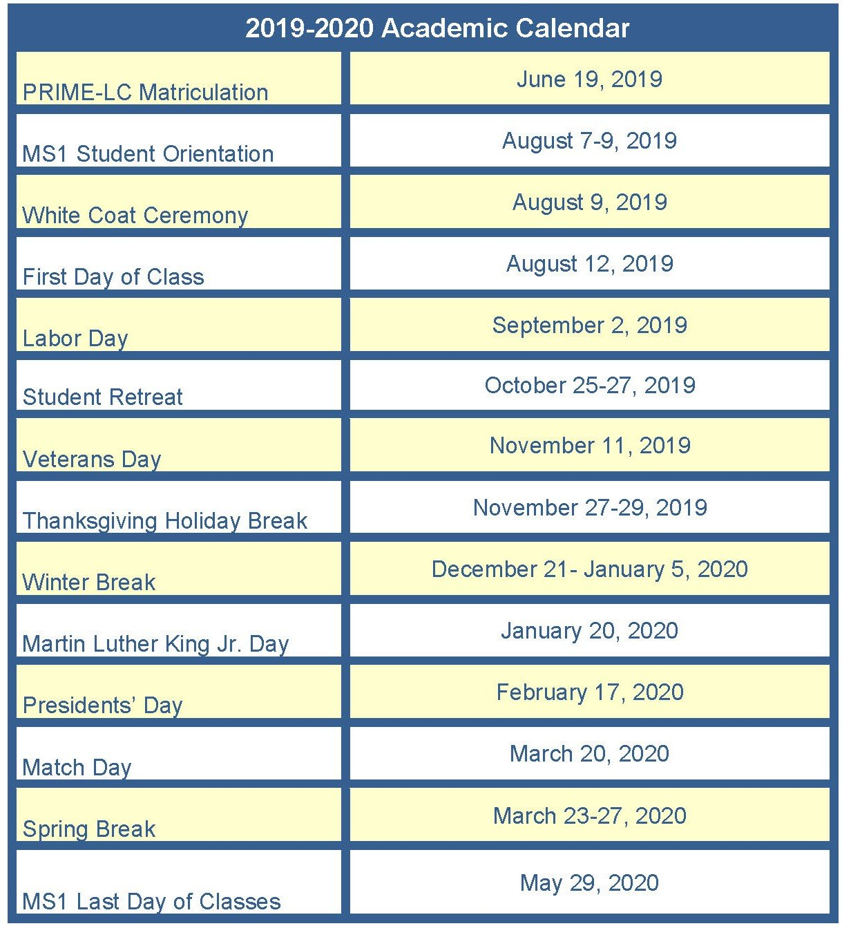 Information For Incoming Students | Medical Education | School Of Calendar 2019 Uci