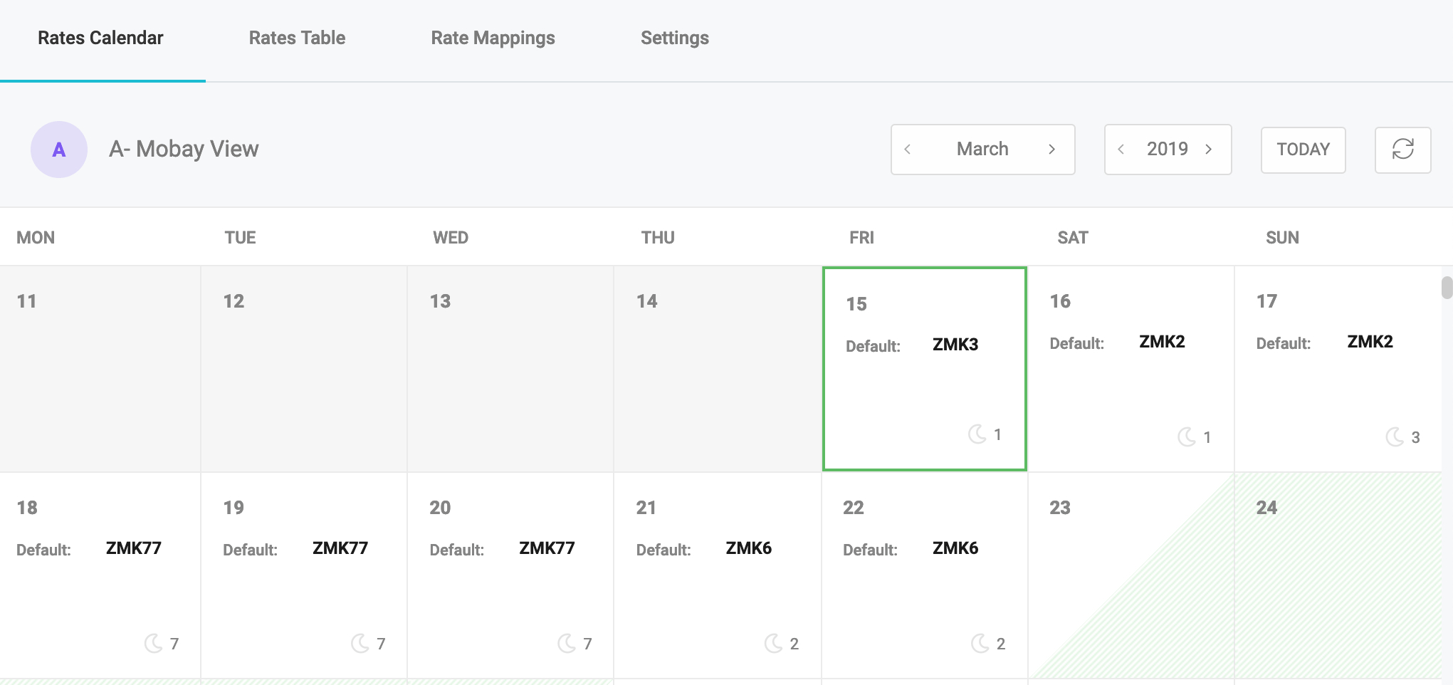 Introduction To Tokeet V3: Rates Calendar   Tokeet Press Calendar 2019 Rates