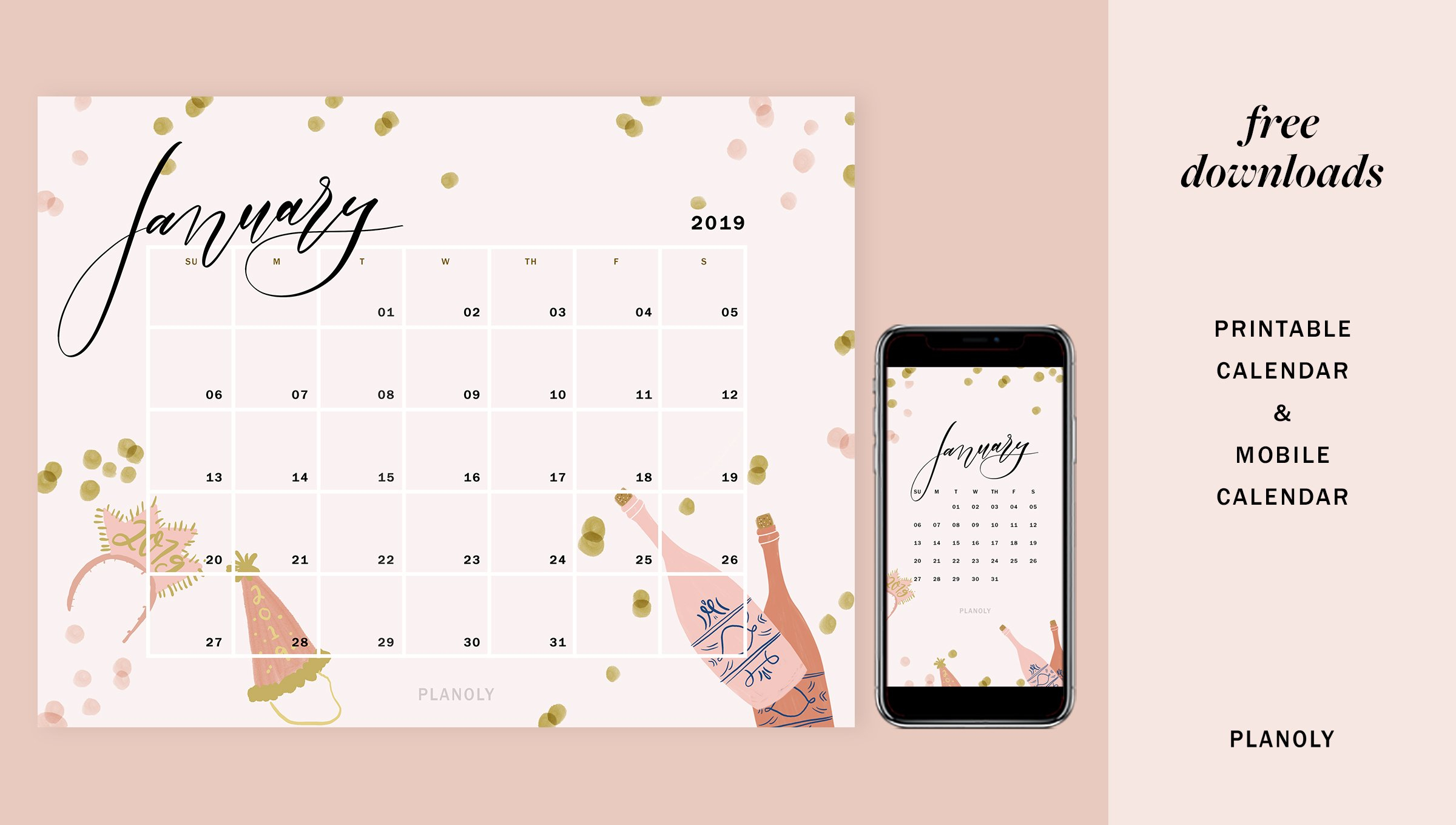 January 2019 – Blog Post – Image 1 – Planoly Calendar 2019 Blog
