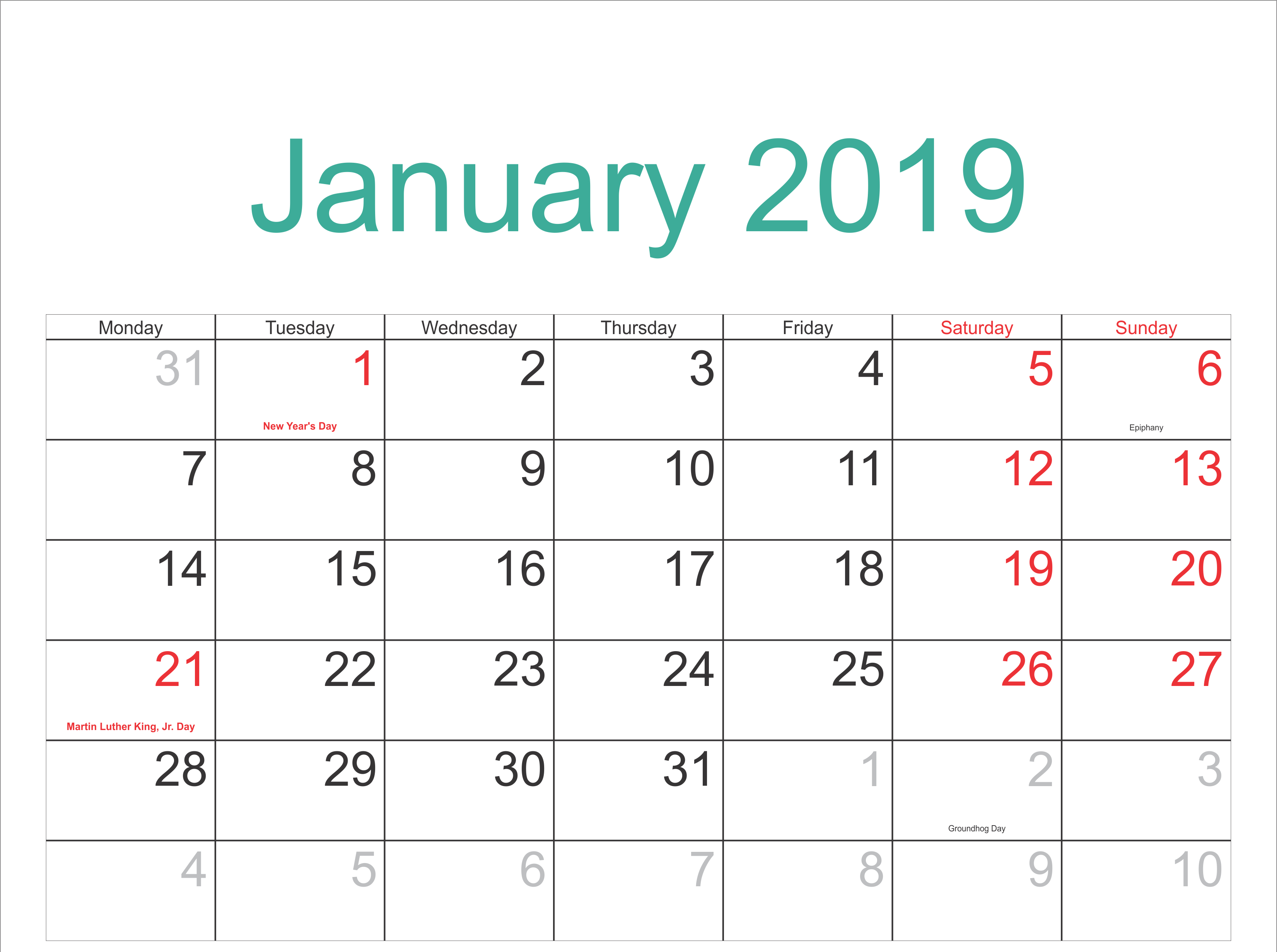 January 2019 Calendar Archives - 2019 Calendar Template Holidays 6 Nations 2019 Calendar Download