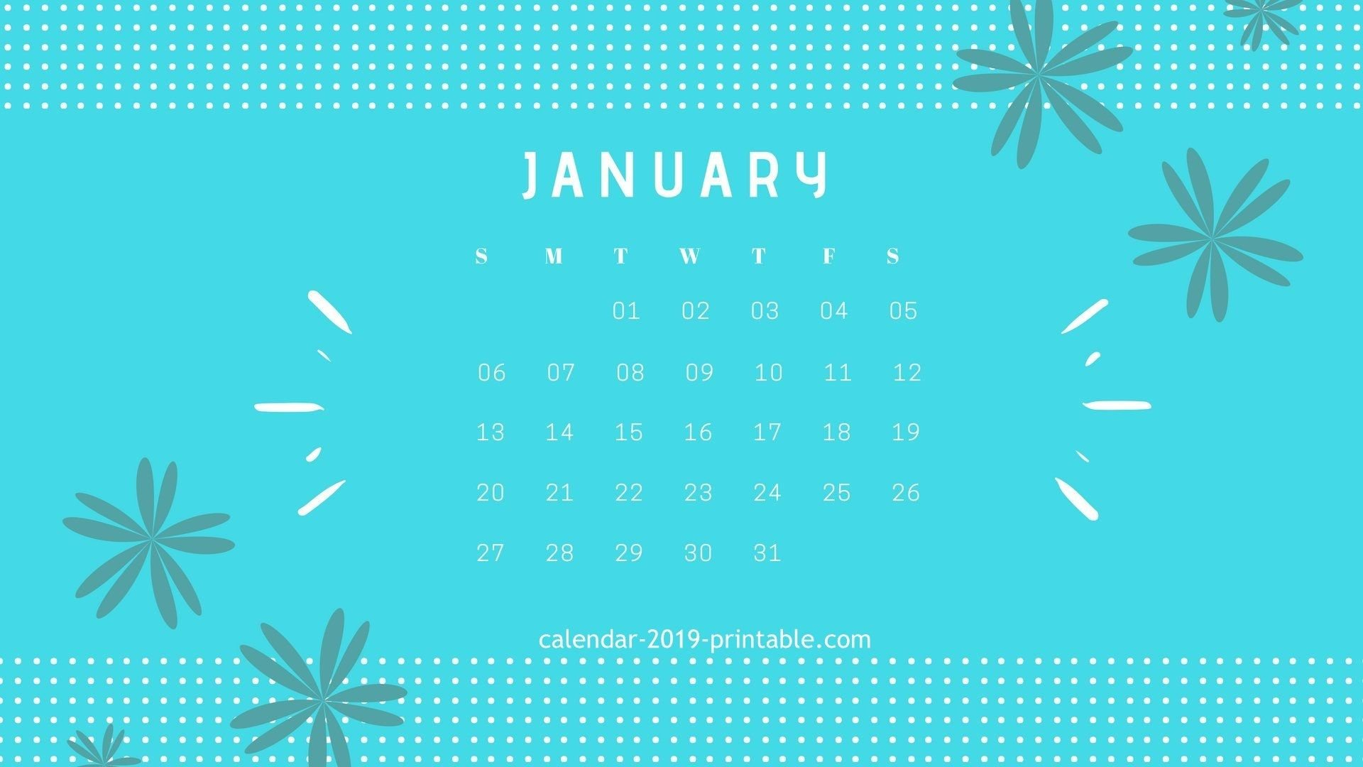 January 2019 Calendar Desktop Wallpapers Calendar 2019 Calendar 2019 On Computer