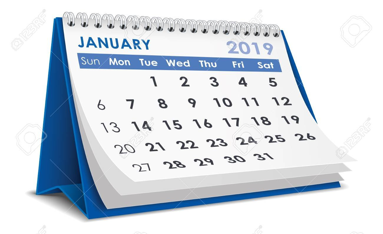 January 2019 Calendar Royalty Free Cliparts, Vectors, And Stock Calendar 2019 Clipart