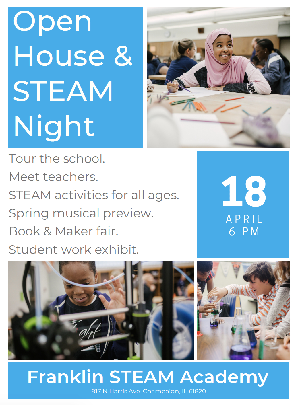 Join Us April 18 For The Franklin Steam Academy Open House And Steam Champaign Unit 4 Calendar 2019