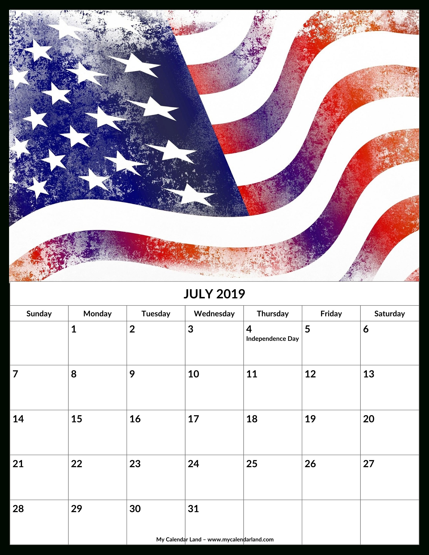 July 2019 Calendar - My Calendar Land U.s. Senate Calendar 2019