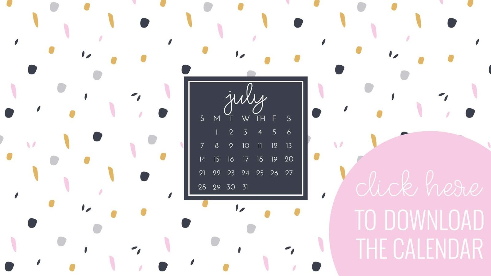 July Desktop | I Teach. What's Your Superpower? Calendar 2019 On Computer