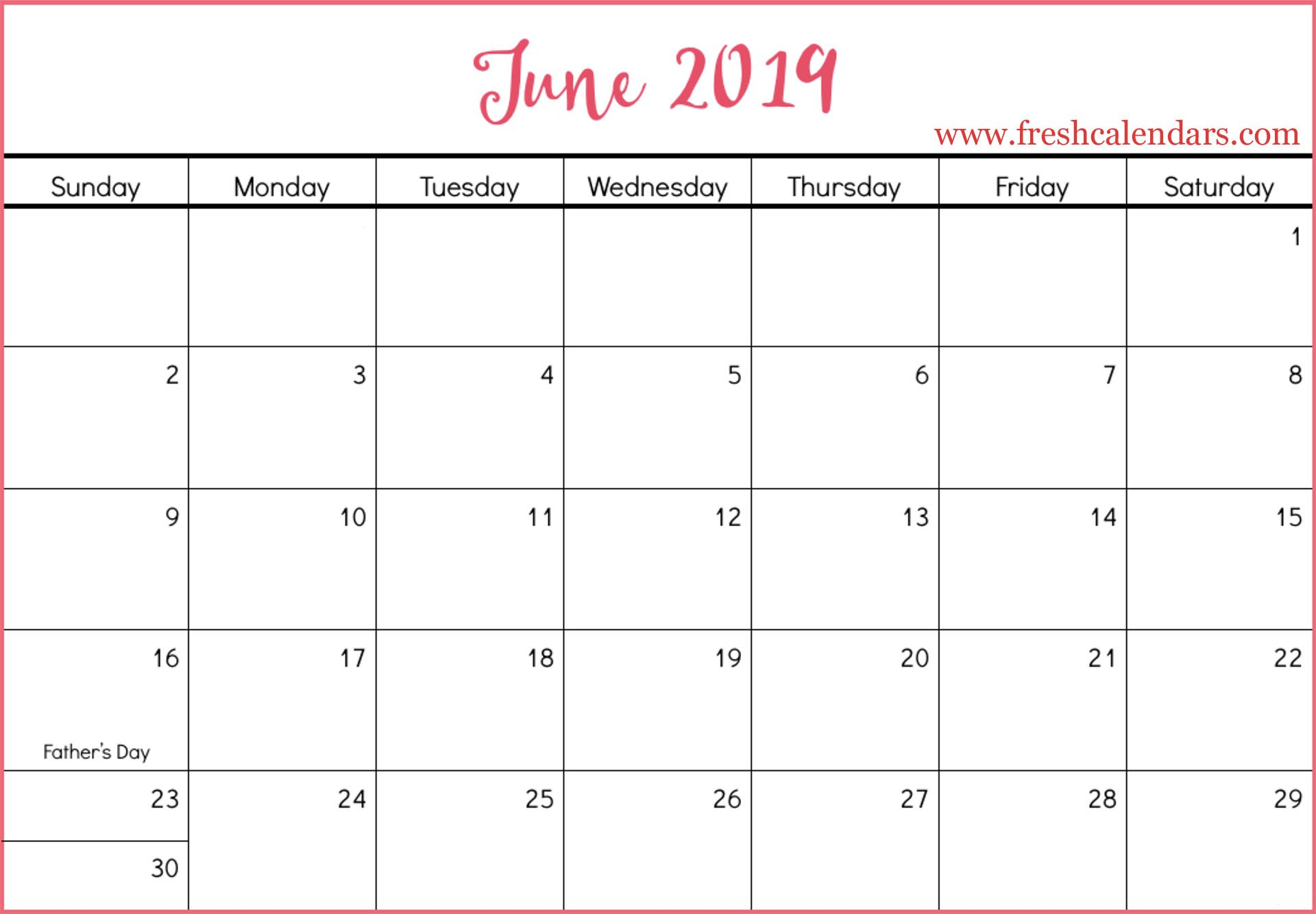 June 2019 Calendar Printable - Fresh Calendars Calendar Of 2019 June