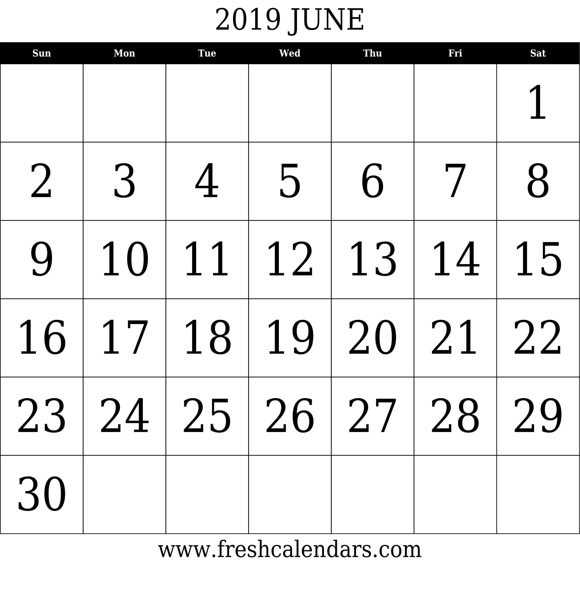June 2019 Calendar Printable - Fresh Calendars June 2 2019 Calendar