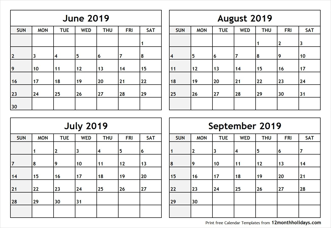 June July 2019 Calendar Printable Template Free Download - July 2019 Calendar 2019 June July