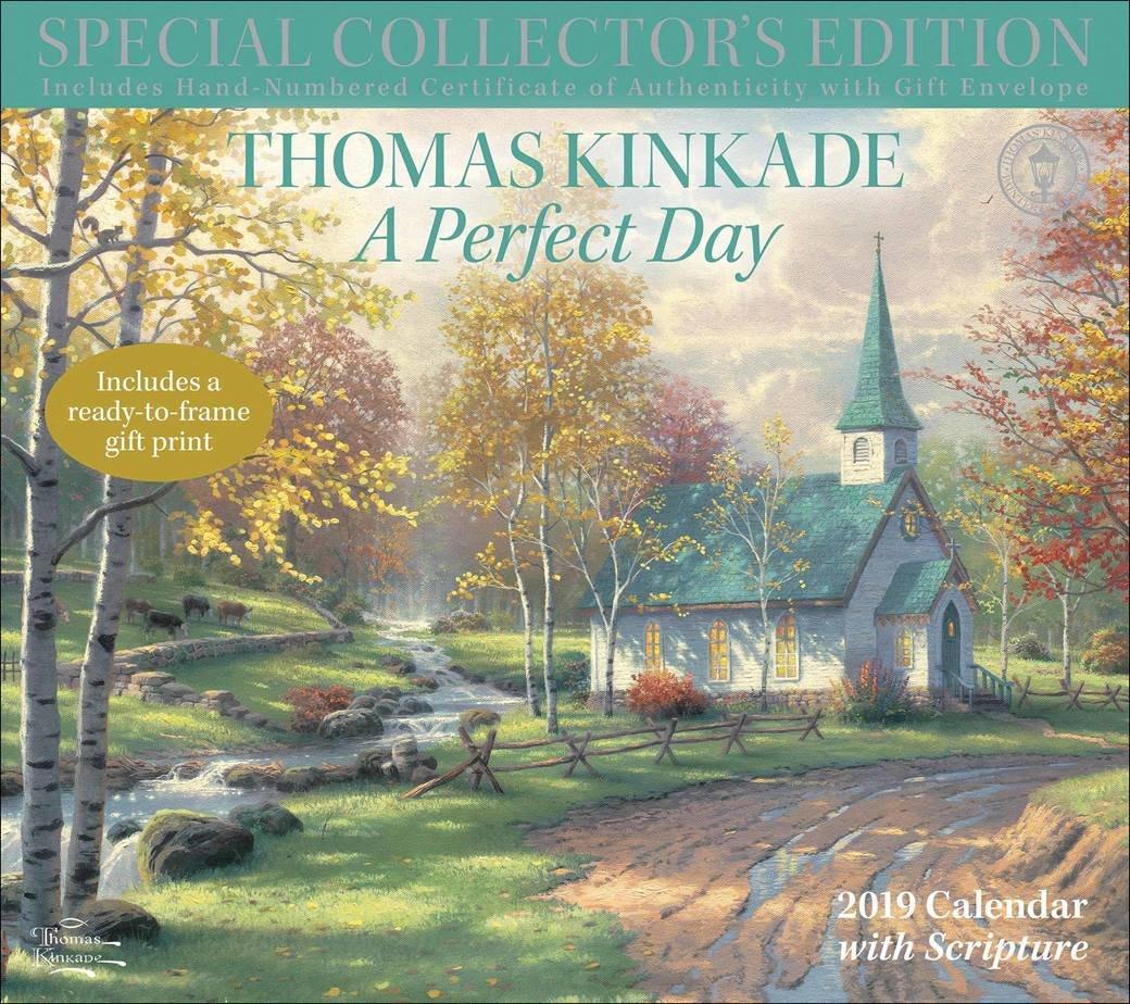 Kinkade, Peaceful Retreat With Scripture Deluxe Calendar 2019 Calendar 2019 Thomas Kinkade