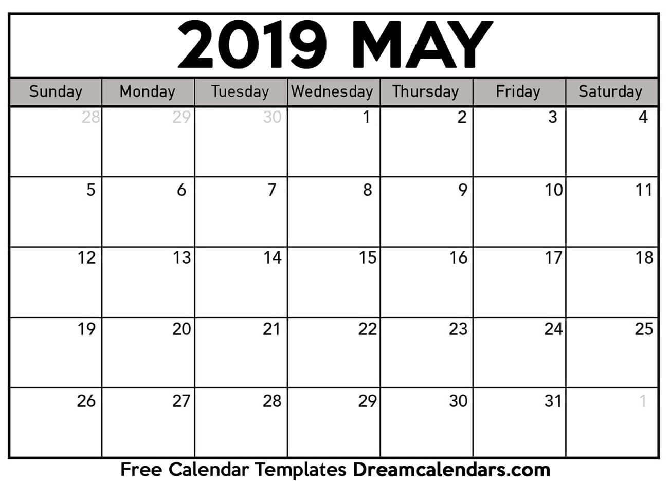 Ko-Fi - Printable May 2019 Calendar - Ko-Fi ❤ Where Creators Get May 4 2019 Calendar