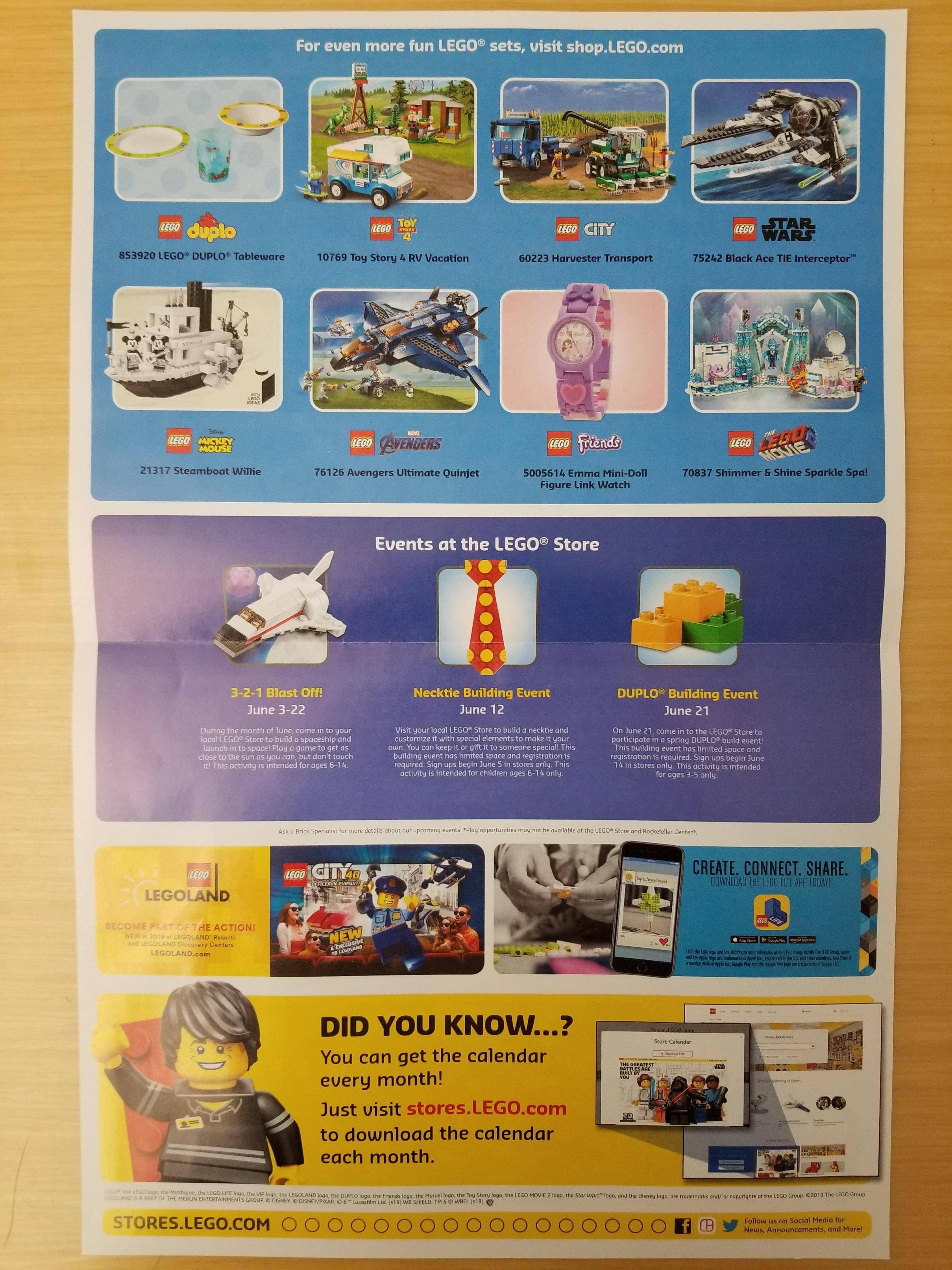 Lego June 2019 Store Calendar Events - The Brick Fan Calendar 2019 In Stores