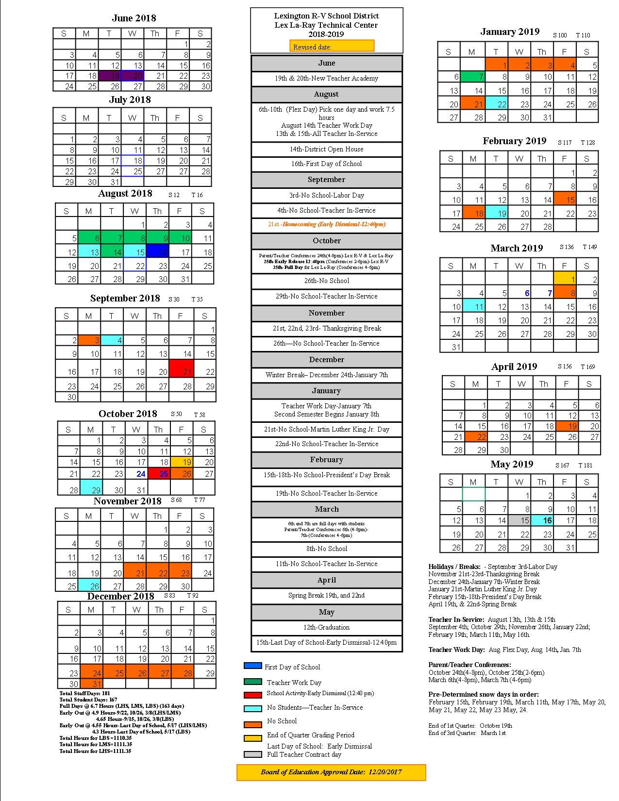 Lexington School District Calendar 2019 - Publicholidays Lexington 1 Calendar 2019